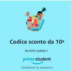 Diventa cliente Amazon prime student