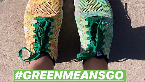 #GreenMeansGO Laces (presale, ribbons available next week!)