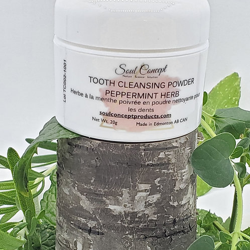 Tooth Cleaning Powder Peppermint Herb