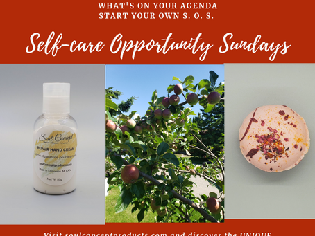 Self-care Opportunity Sunday (or S.O.S.)  What's on your agenda?