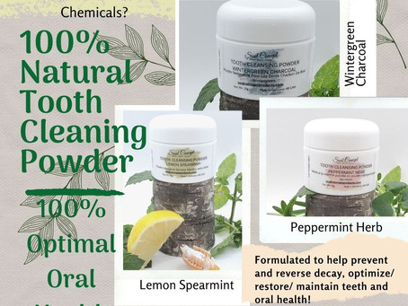 Why you should consider switching to a 100% Natural Tooth Cleaning Powder!