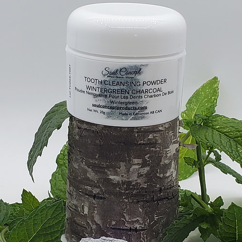 Tooth Cleaning Powder Wintergreen Charcoal