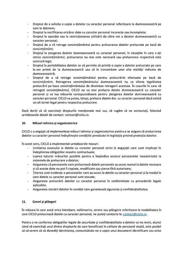 Politica de confidentialitate CICLO-page