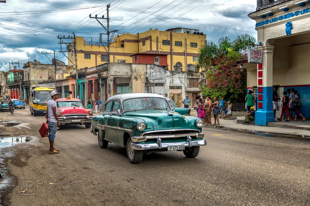 Taxi Cubano Verde Oscurr