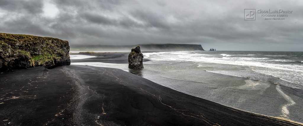 Playa de lava en Islandia