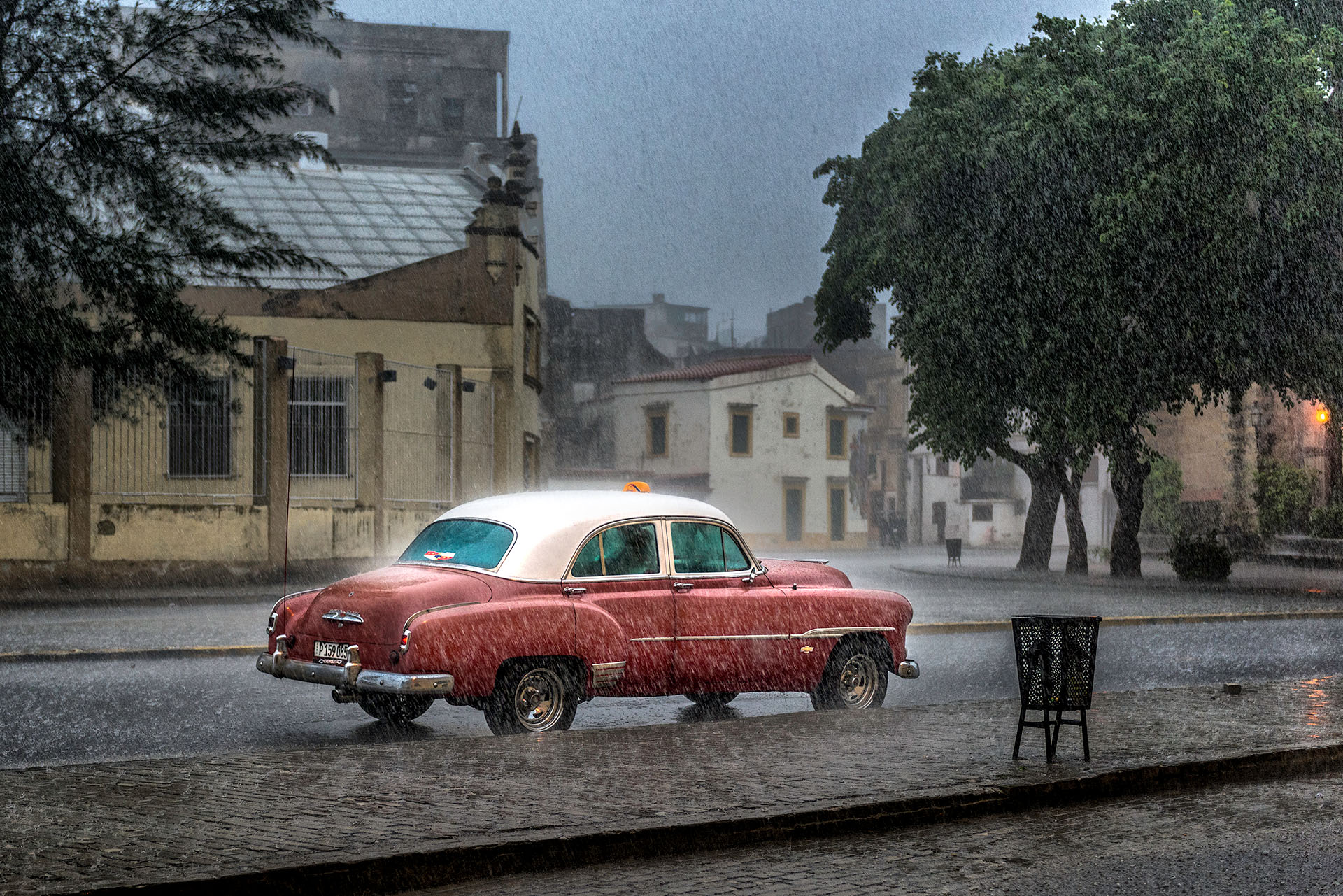 Lluvia al Atardecer