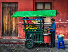 Vendedor Frutas y Verduras Antigua