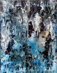 """Glaciares"" - acrylic on canvas - 100 x 81 cm"