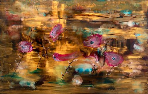 Jardins Encantados - mixed media on canvas - 80cm x 125cm - 2021
