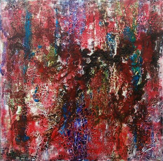 """Florestas"" - acrylic on canvas - 100 x 100 cm - 2008"
