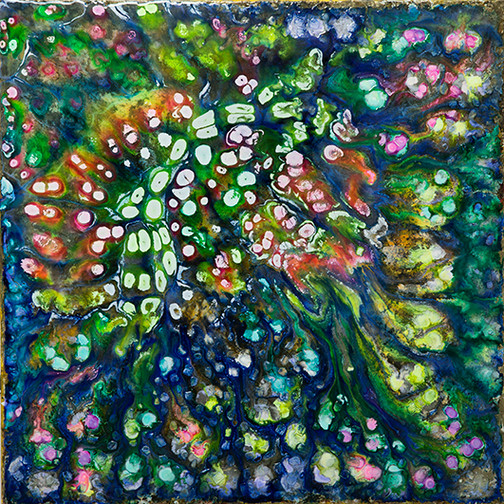 2020, nº 2 - mixed media on canvas - 100 cm x 100 cm - 2020