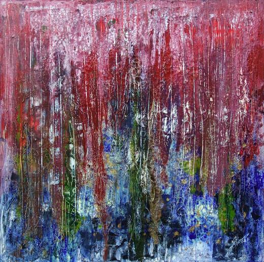 """ Fundus "" -acrylic on canvas - 100 x 100 cm - 2008"