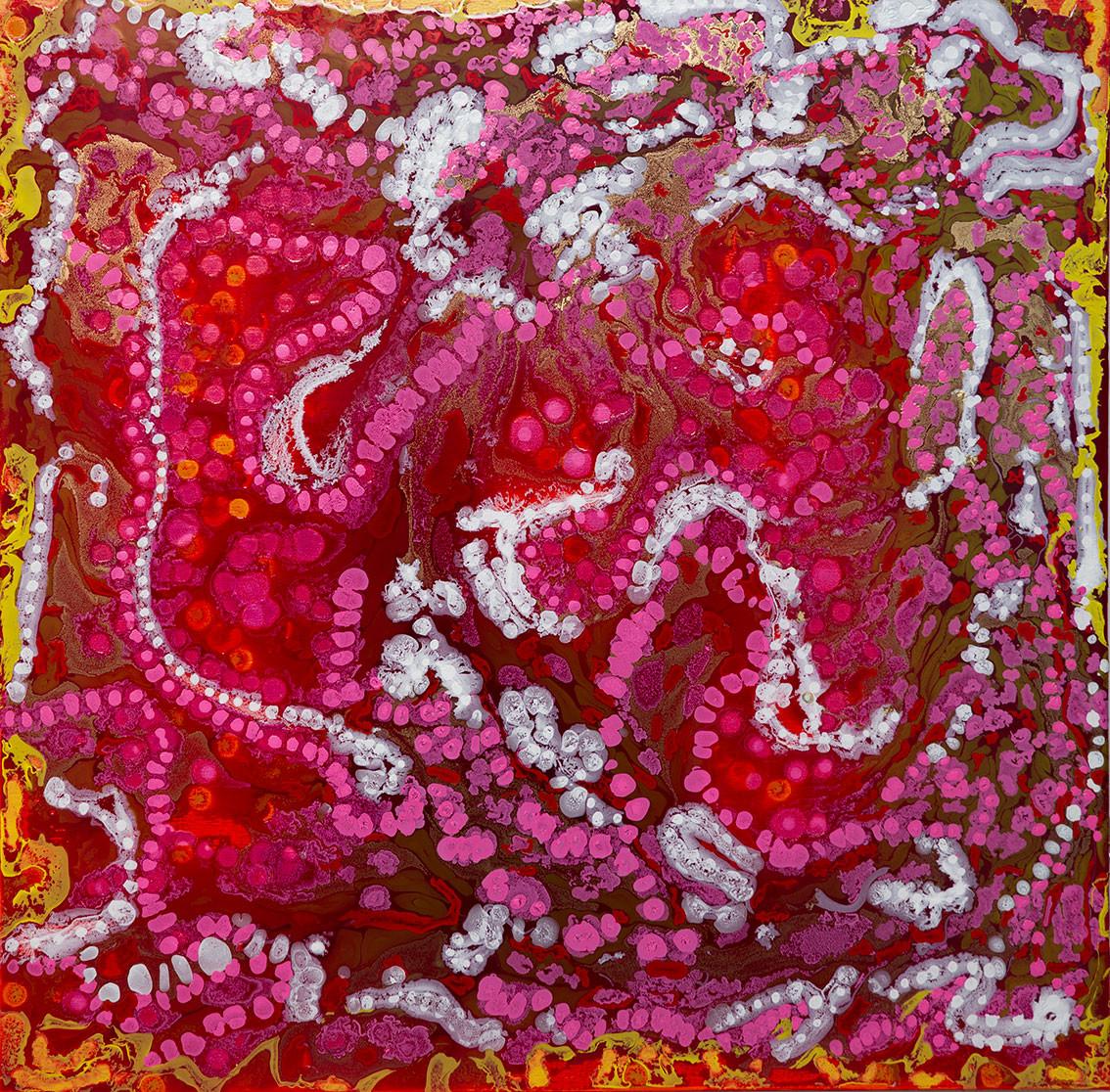 Color Movement nº 17 - mixed media on canvas - 100 cm x 100 cm - 2019