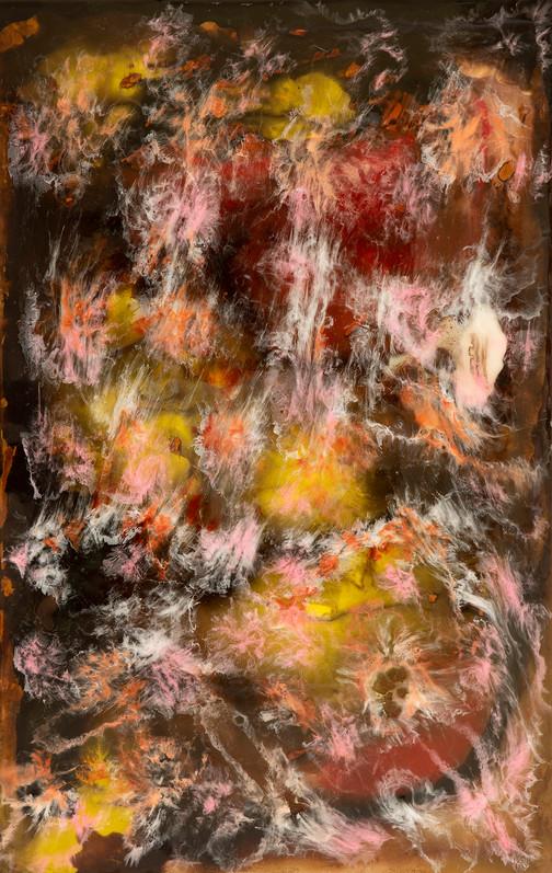 Angelicus  - mixed media on wood - 125 cm x 80 cm - 2020