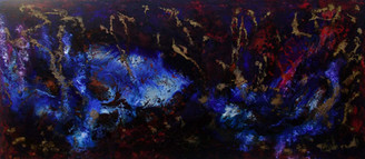"""Atmosferas"" - acrylic on canvas - 80 x 180 cm - 2007 - private colection, Portugal"