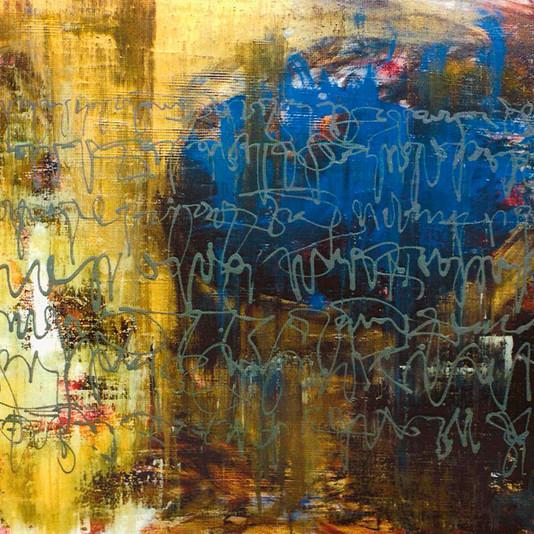 """""""Escombros"""" -acrylic on canvas - 81 x 100 cm"""