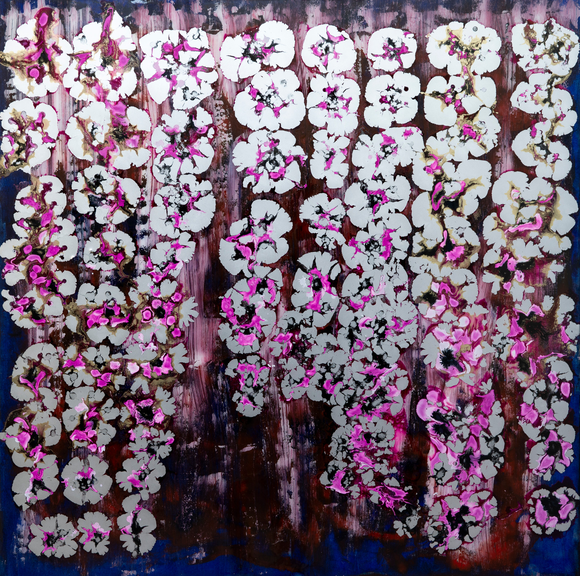 2020, nº 16 - mixed media on wood - 100 cm x 100 cm - 2020