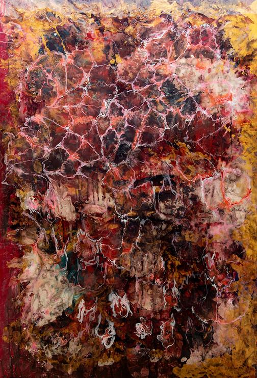 Seixos de Ouro, mixed media on canvas - 180 cm x 125 cm - 2020