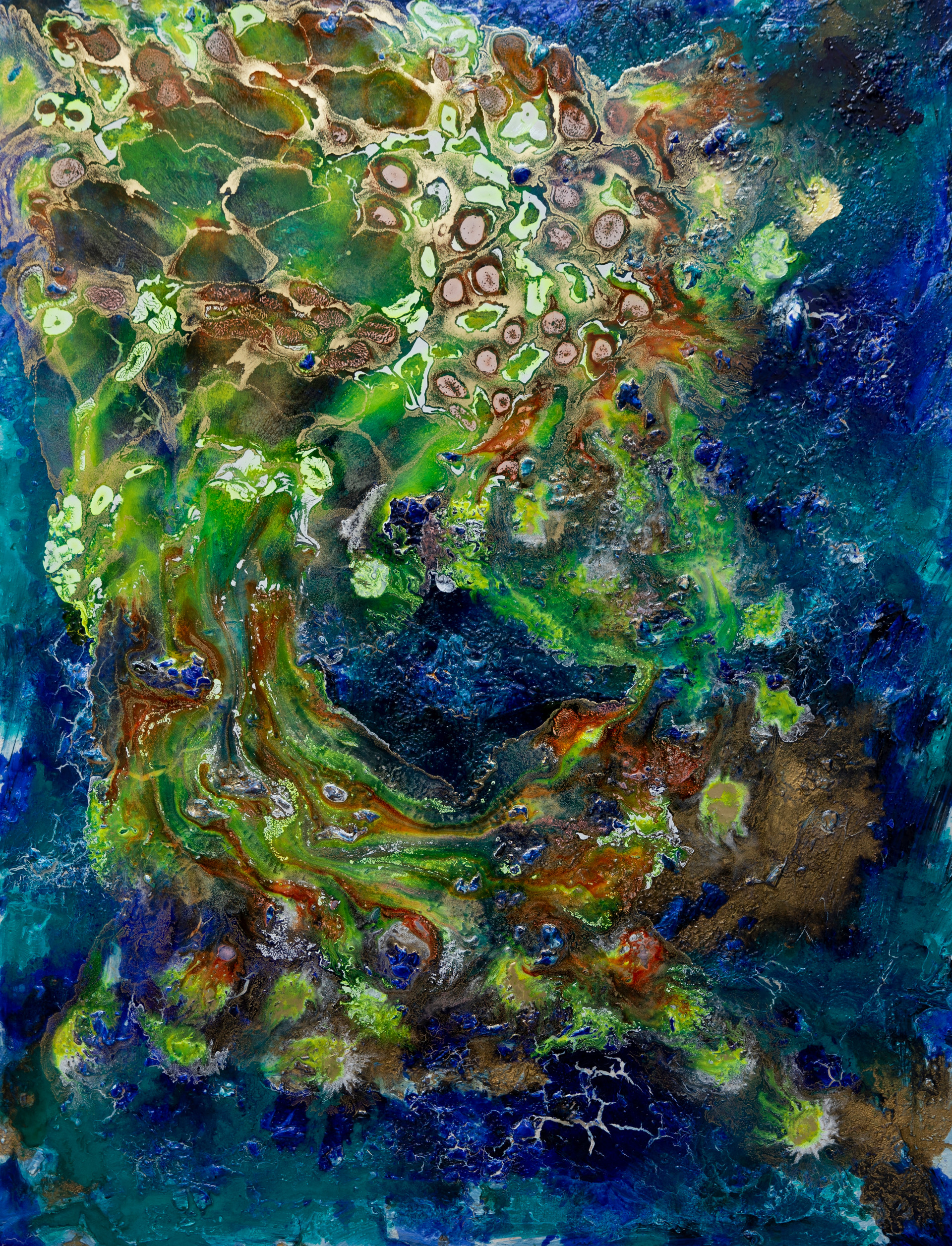 Oceanicus - mixed media on canvas - 116 cm x 89 cm - 2020