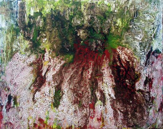 """Erupção"" - acrylic on canvas - 120 x 160 cm - 2008 - private colection - Amã, Jordan"
