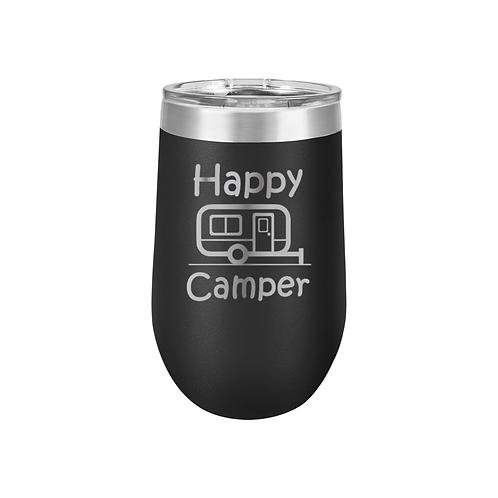 16 oz. Stemless Tumbler - Happy Camper