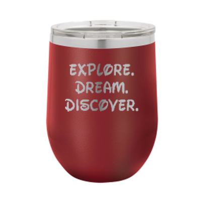 12 oz. Stemless - Explore. Dream. Discover.