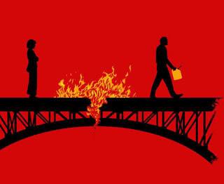 Just how do you repair a burned bridge?
