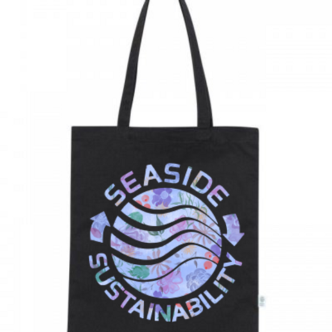 Seaside Flower Logo Tote