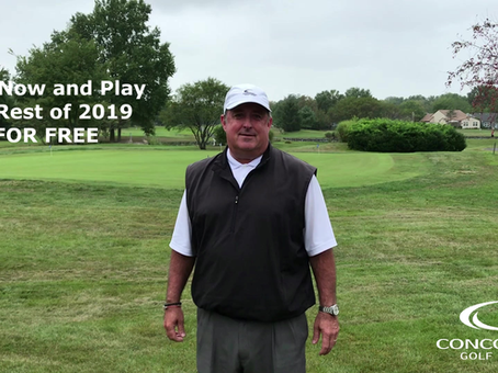 Join Concordia Golf Club Now and Play the Rest of 2019 FOR FREE!