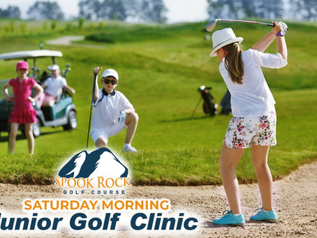 Saturday Morning Junior Golf Clinic at Spook Rock Golf Course for Children 7-15 years of age.