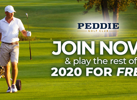 Join Peddie Golf Club Now and Play the Rest of 2020 for FREE