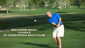Concordia Golf Club's NEW Guidelines and Restrictions