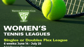 Women's Tennis Leagues - June 14th - July 25th - Members, Sign Up Today!
