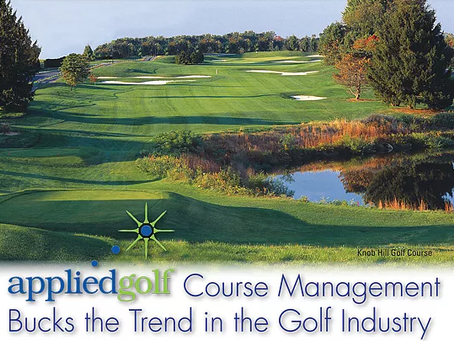 appliedgolf Course Management Bucks the Trend in the Golf Industry