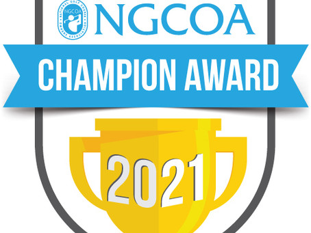 Congratulations to Dave Wasenda, Owner of appliedgolf, Winner of the 2021 NGCOA Champion Award