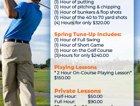 Take Golf Lessons from a Pro at Concordia Golf Club