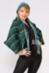 Blue Green Fitted Jacket