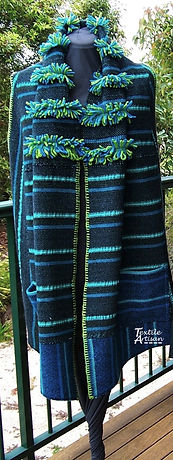 Blue Green Long Vest