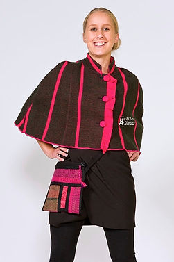 Pink Frill Wool Cape
