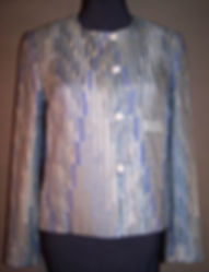 Silver Grey Rich Rag Jacket silk