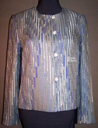 Silver Grey Rich Rag Jacket silk
