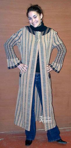 Natural Coloured Cotton Long Coat