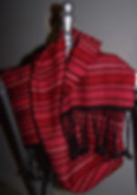 Red handspan silk and black wool s