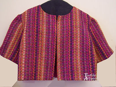 Cropped Jacket cotton, silk and rayon