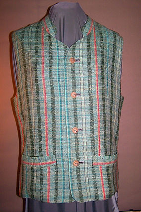 Gents Lined Silk/cotton/linen Vest