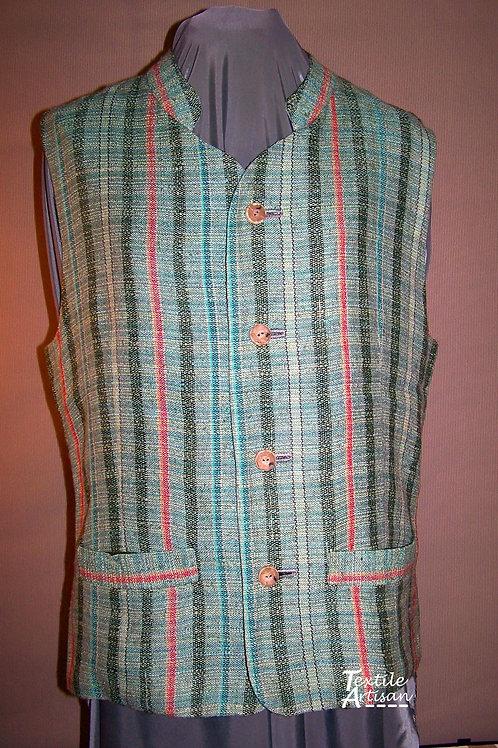 Gent's Linen Silk Lined Vest
