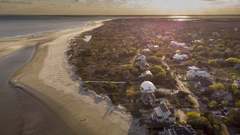 beachfront views and living like george lucas on Sullivans Island, South Carolina