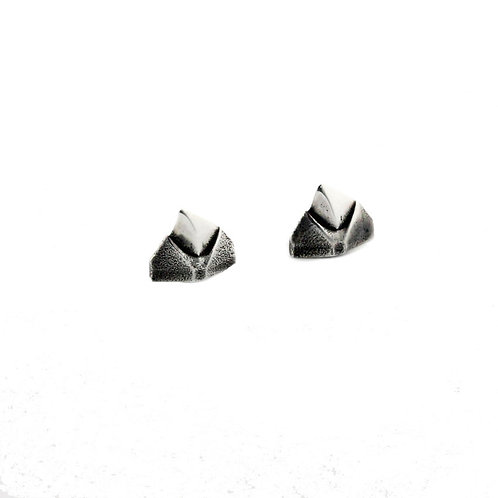 Gothic silver thorn stud earrings