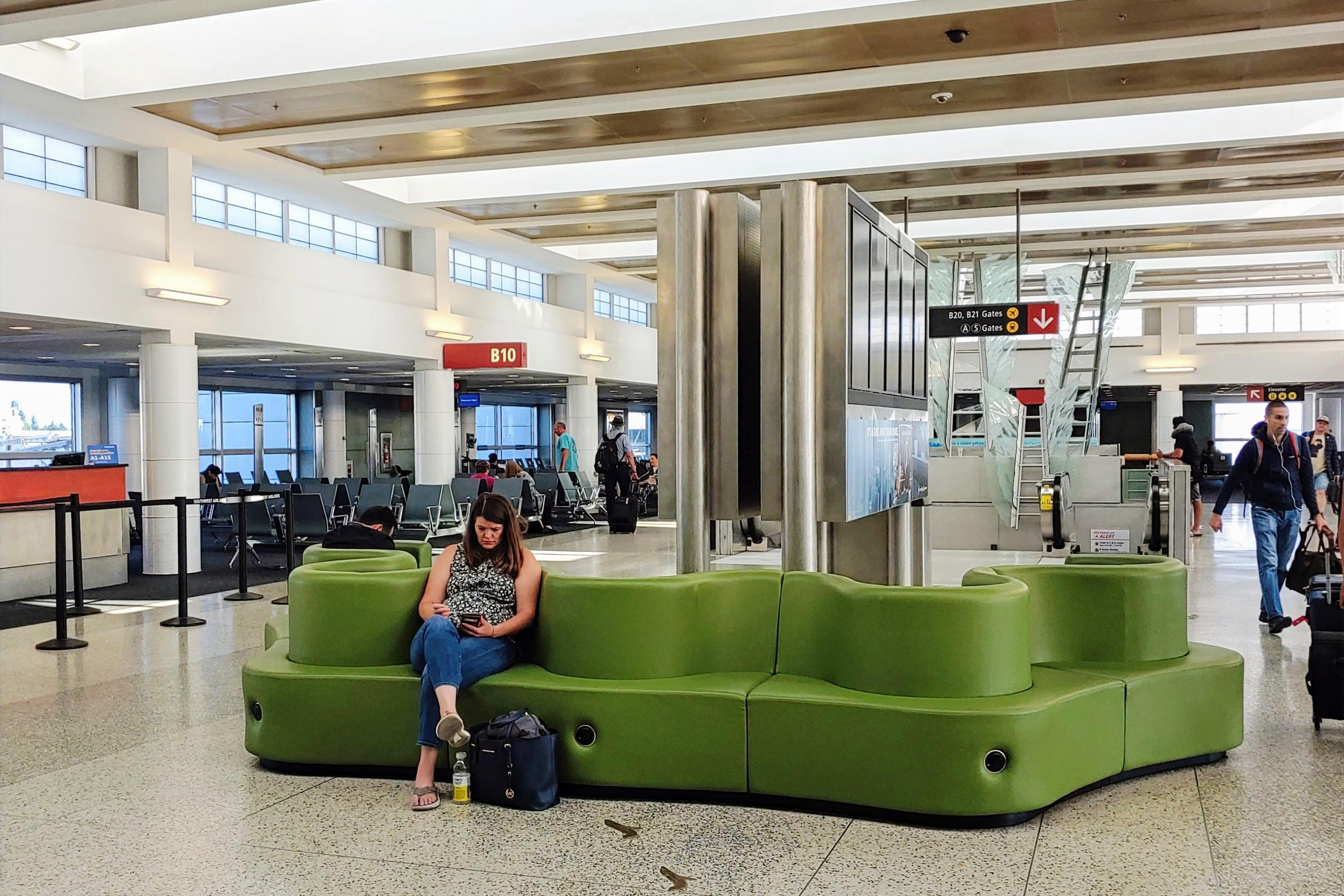 Sea-Tac Airport Hold Room Seating