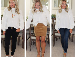 1 SWEATER STYLED 3 WAYS